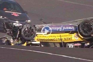 """Top Race Junior: el """"Dipy"""" protagonizó un tremendo choque en el autódromo de Paraná -"""