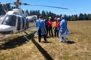 Rescatan a un hombre que fue golpeado por un desprendimiento de rocas en el volcán Lanín