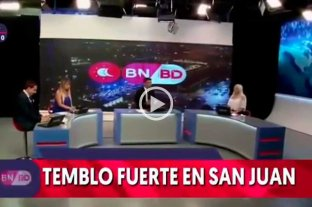 "Video: un noticiero de San Juan ""tembló"" en vivo en medio del terremoto"