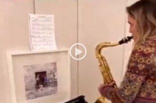 Luisana Lopilato volvió a un viejo amor: retomó las clases de saxo