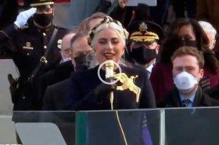 Video: así fue la presentación de Lady Gaga en la asunción de Biden