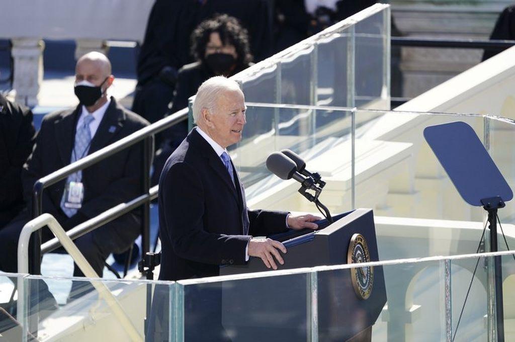 """""""La democracia ha prevalecido"""", aseguró Joe Biden en su discurso inaugural -  -"""