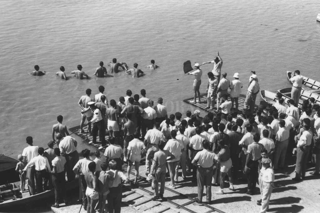 La largada en el Club Regatas de Santa Fe Crédito: Archivo El Litoral