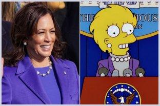Los Simpson lo hicieron de nuevo: Kamala Harris lucía como Lisa en la investidura post Trump -  -