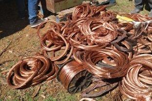 Cayó en Medoza una banda que robaba cobre: tenían casi una tonelada