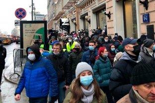 Detenciones en Rusia en protestas de partidarios de Navalny