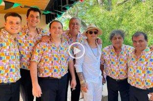 """Todo bien santafesino: Los Palmeras y """"Soy Sabalero"""" hicieron bailar al Chino Maidana"""