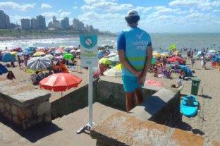 Cerraron una playa en Mar del Plata por exceso de gente