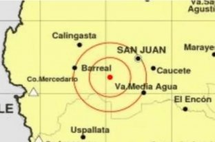 Se registró un nuevo temblor en San Juan