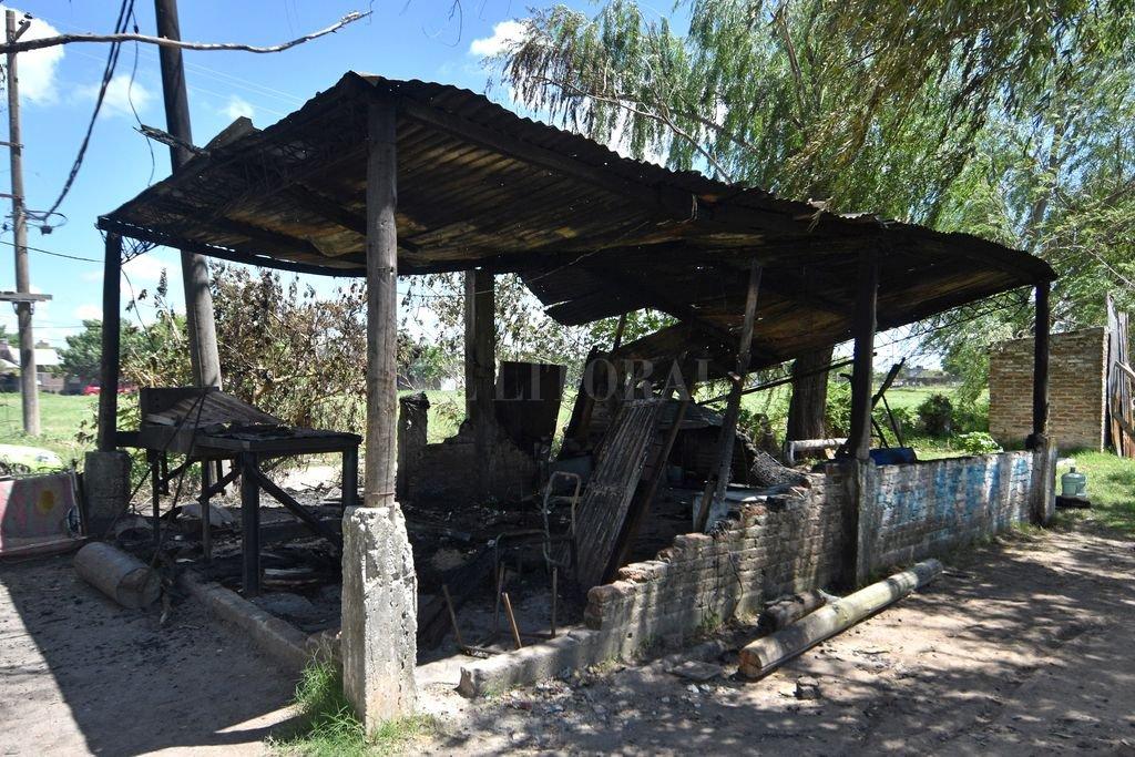 Estado en que quedó el lugar tras el fuego. Crédito: Pablo Aguirre