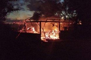 Córdoba: hacían un asado y terminaron incendiando el quincho