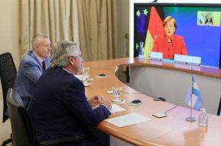 Alberto Fernández dialogó con Merkel y le pidió el apoyo de Alemania en la negociación con el FMI
