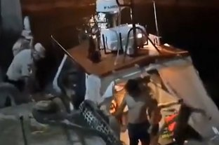 Naufragio en Federación: rescataron a una familia que estuvo siete horas en el agua