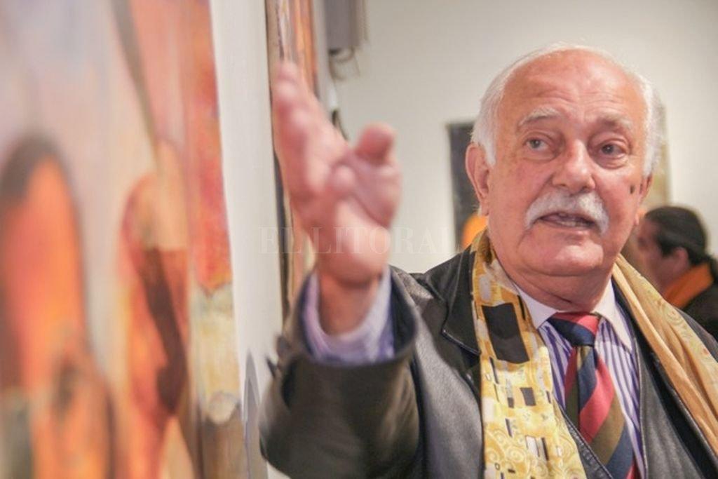 Falleció Domingo Sahda - Sahda en Nueva York en 2015, en una exposición retrospectiva.