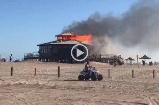 Un incendio destruyó un parador ubicado en la zona norte de Pinamar