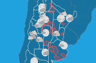 Hay 17 provincias argentinas bajo alerta meteorológico