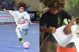Kauan Basile el niño que firmó su contrato a los 8 años