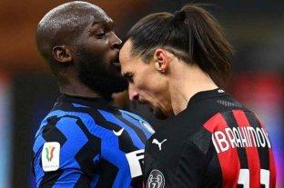 Fuerte cruce entre Lukaku e Ibrahimovic en el clásico por los cuartos de final de la Copa Italia