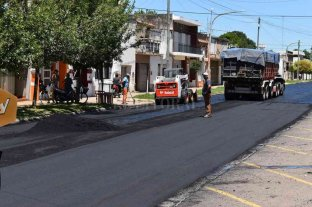 Buen inicio de año: Elortondo suma nuevas calles pavimentadas