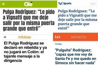"""Las repercusiones de las declaraciones del """"Pulga"""" Rodríguez a El Litoral"""