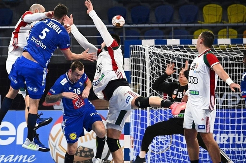 Francia y Hungría protagonizaron un emocionante encuentro de cuartos de final, en el que el representativo galo logró imponerse con válidos argumentos. Crédito: Gentileza