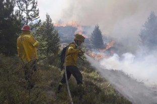 Chubut y Río Negro mantienen focos activos de incendio forestales