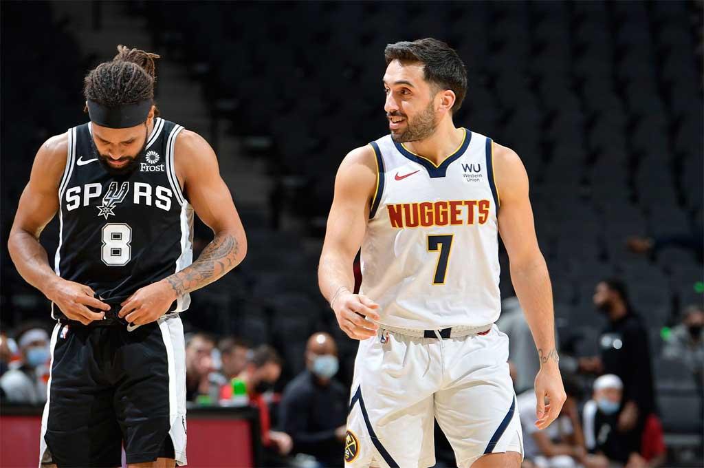 Denver Nuggets, con Campazzo, perdió 119 a 109 ante San Antonio Spurs