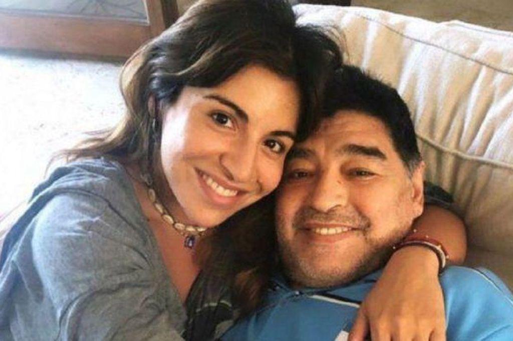Gianinna y Diego Maradona Crédito: Archivo