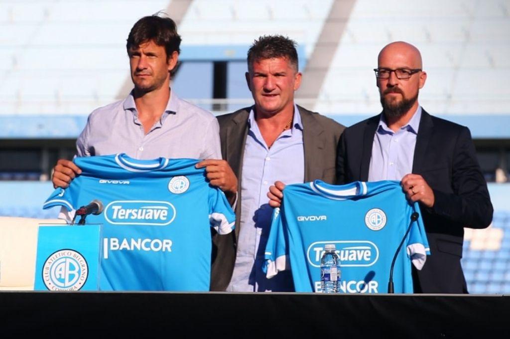 Mauro Óbolo, Luis Artime y Alejandro Orfila (derecha) Crédito: Prensa Belgrano