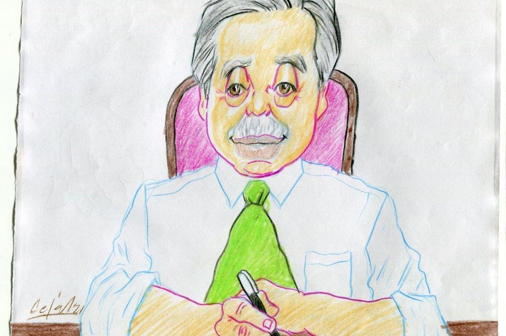 El presidente Alberto Fernández Crédito: Ilustración Lucas Cejas