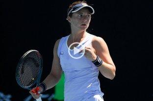 Nadia Podoroska debutó con un triunfo en el Australian Open
