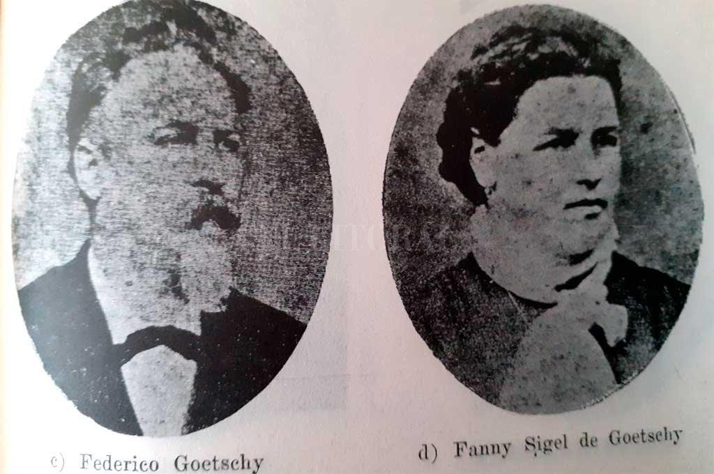 Goetschy junto a su esposa. Crédito: El Litoral