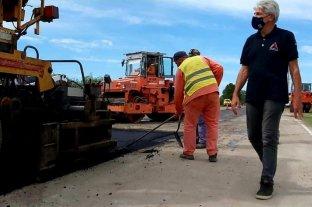Baucero celebró el comienzo de los trabajos de repavimentación y bacheo de la Ruta 1