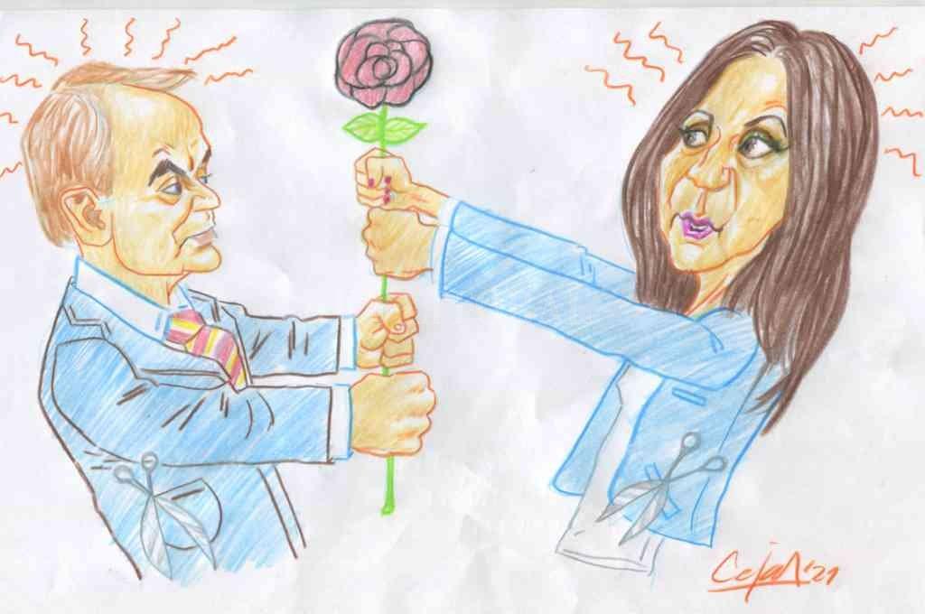 Eduardo Di Pollina y Mónica Fein. Crédito: Lucas Cejas