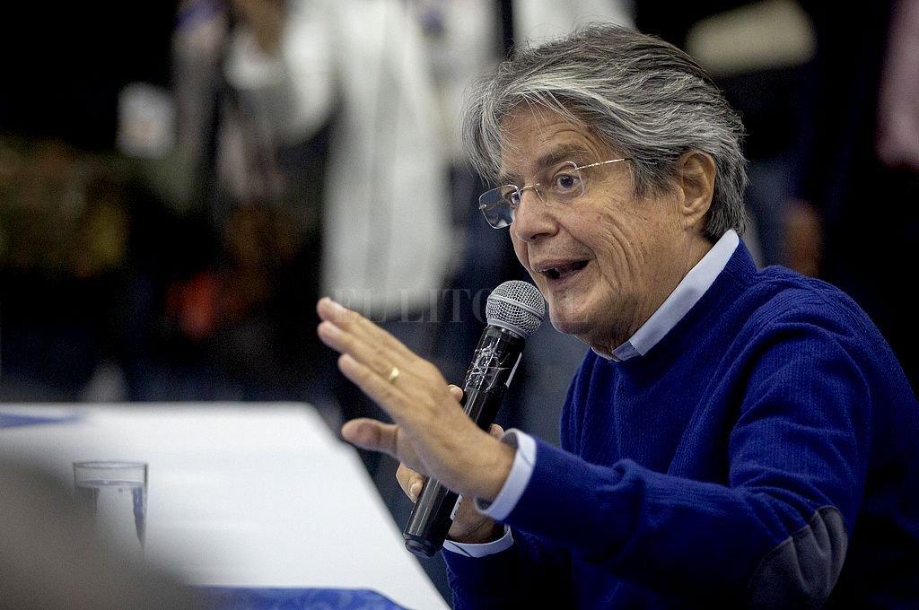 El candidato presidencial por la alianza entre el movimiento Creando Oportunidades y el Partido Social Cristiano, Guillermo Lasso. Crédito: Xinhua