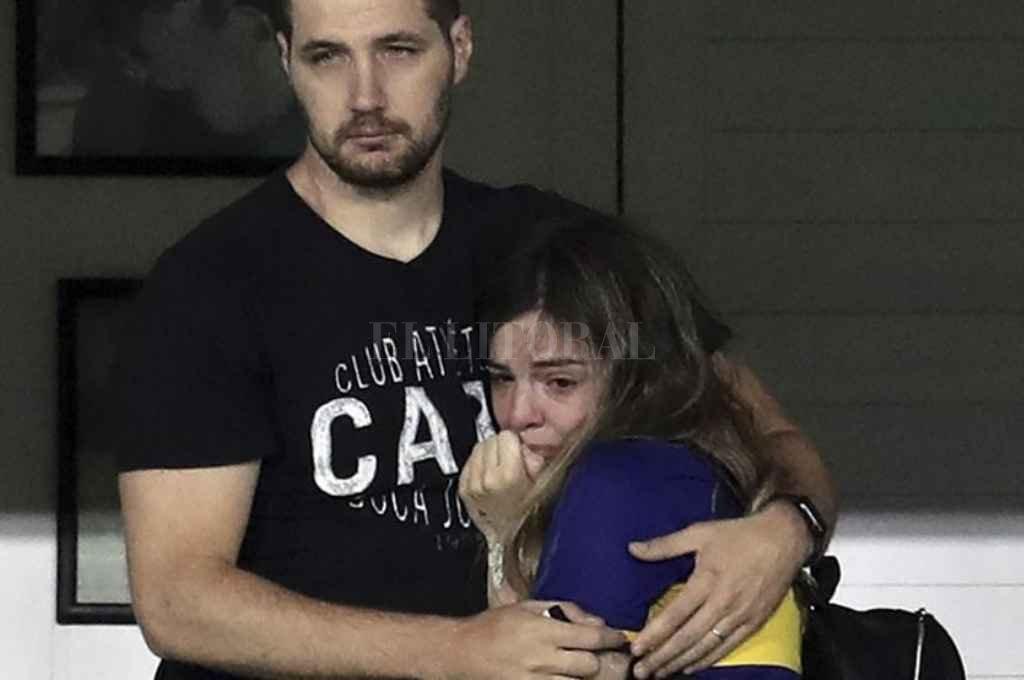 Dalma Maradona y su marido. Crédito: Gentileza