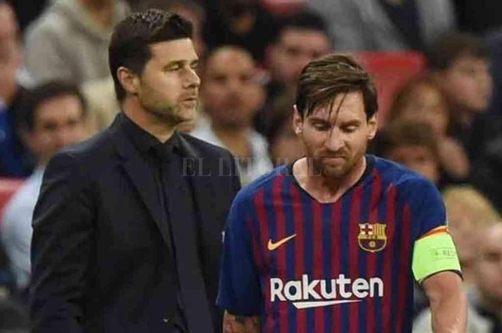 Messi y el DT Pochettino hoy se enfrentan; ¿estarán juntos después de junio? Crédito: Archivo