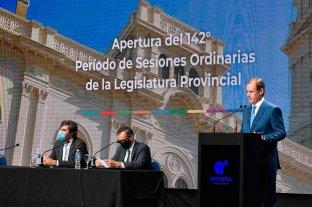 Bordet abrió las sesiones ordinarias con varios anuncios