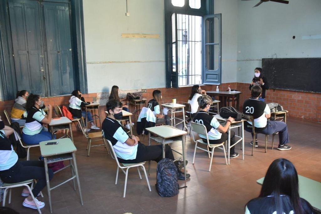 Algunas escuelas santafesinas abrieron sus puertas. Crédito: Flavio Raina