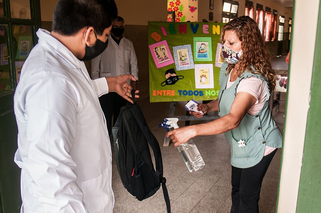 En Santiago del Estero comenzaron las clases los alumnos que necesitan recuperar aprendizajes. Crédito: Télam/Emilio Rapetti
