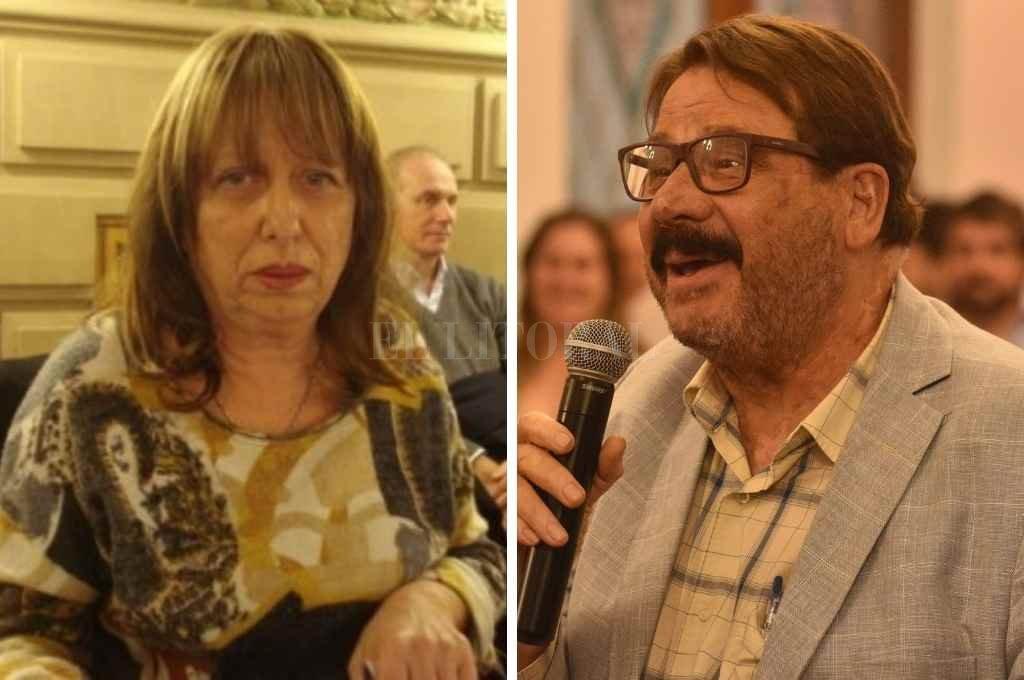 Los justicialistas Cristina Berra y Eduardo Rosconi apoyan la gestión del gobernador Omar Perotti pero finalmente no se sumaron al bloque Lealtad. (Fotos A y B).    Crédito: Archivo El Litoral