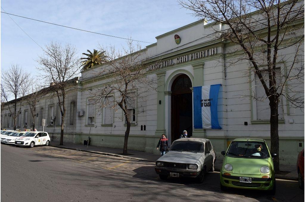 Hospital San Martín al que fue trasladado el herido Crédito: Gentileza
