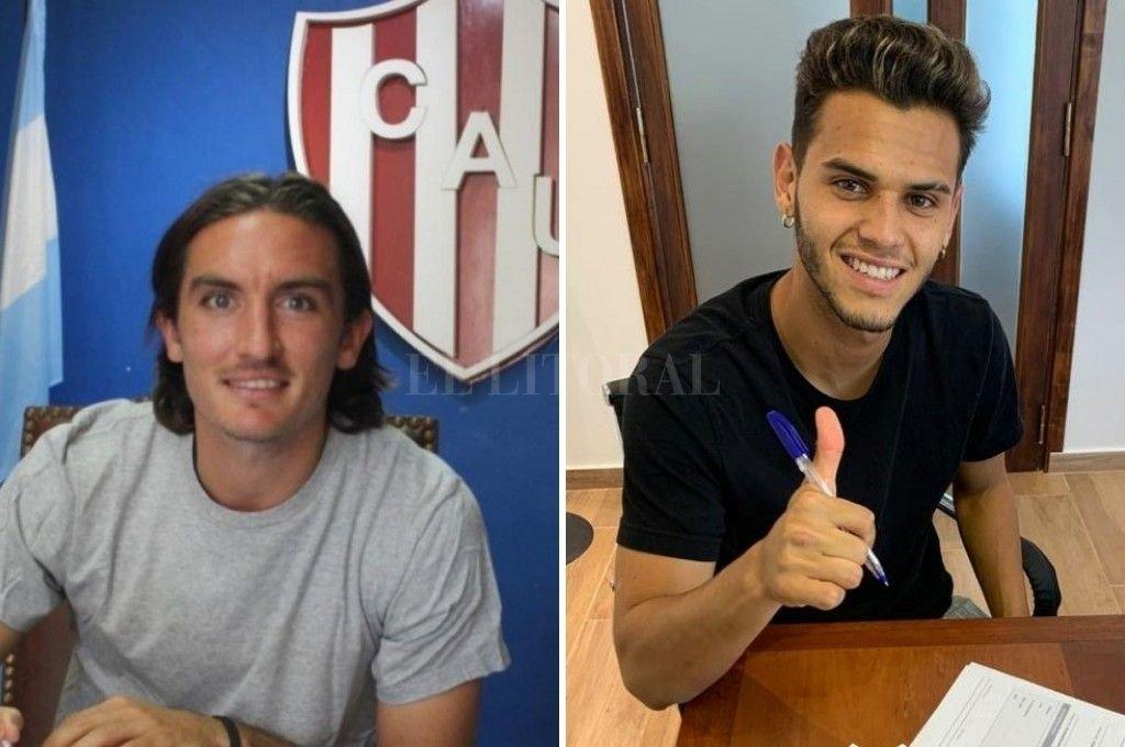Mauro Pittón y Cristian Ferreira, refuerzos destacados para Unión y Colón. Crédito: Archivo