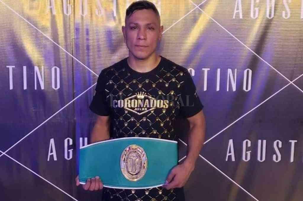"""El jujeño Juan José """"Pitbull"""" Velasco, campeón sudamericano de peso superliviano. Crédito: Archivo"""