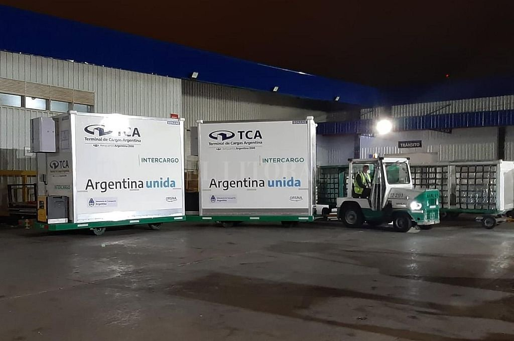 Llegada de las vacunas Covishield a la Argentina. Crédito: Archivo El Litoral