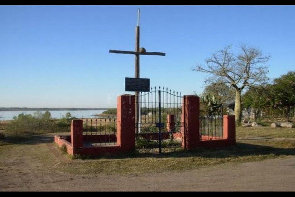 Cruz de Irala en la actualidad, Puerto Gaboto. Crédito: Gentileza del autor