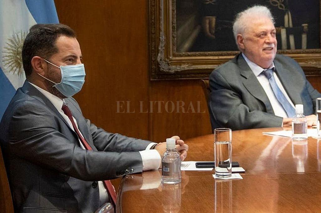 Lisandro Bonelli y Ginés González García. Crédito: @lisandrobonelli