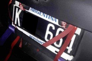 Confirman que es delito alterar la apariencia de la chapa patente de los vehículos