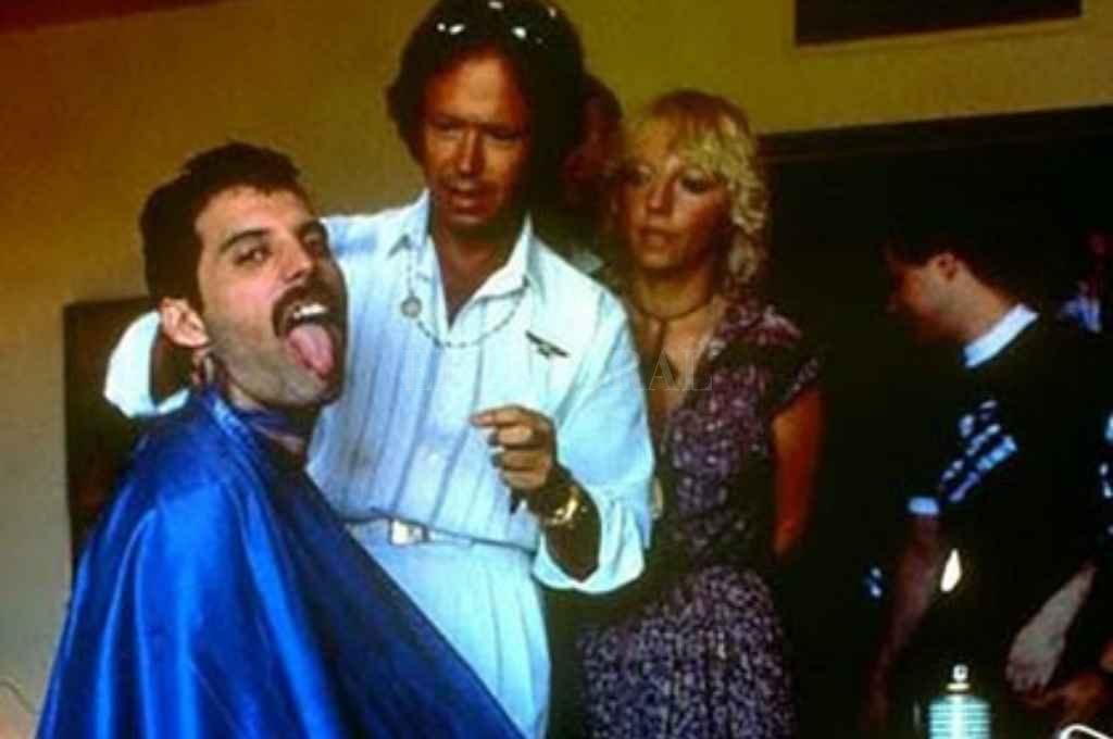 Romano atendió a Freddie Mercury cuando el cantante vino a Argentina. Crédito: Gentileza