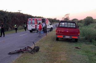 Falleció un ciclista tras una colisión en Ruta Nacional 11 -